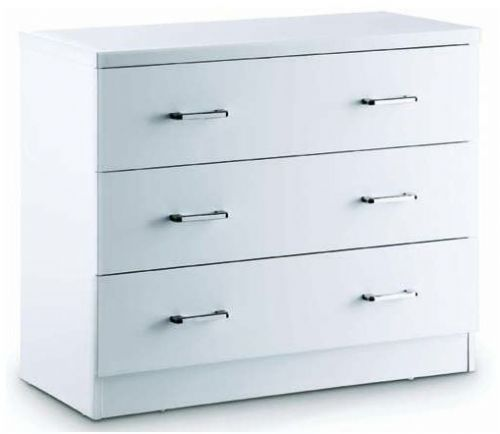 Astro White Gloss 3 Drawer Chest